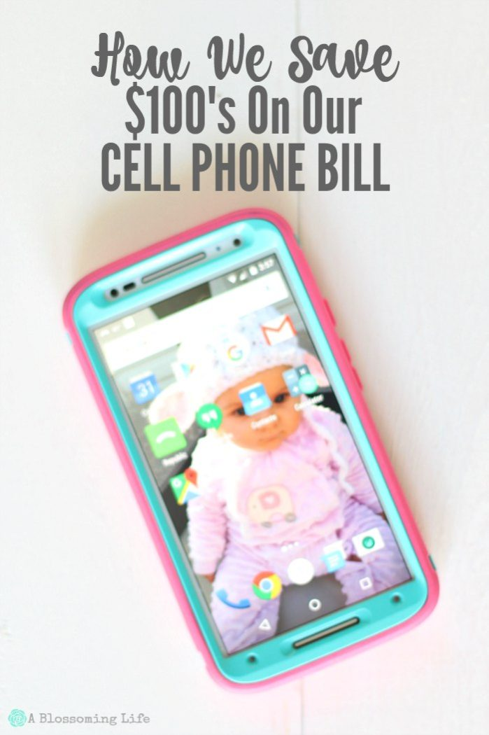 How We Save $100's On Our Cell Phone Bill