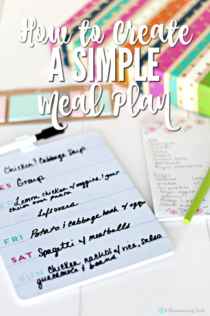 How to Create a Simple Meal Plan