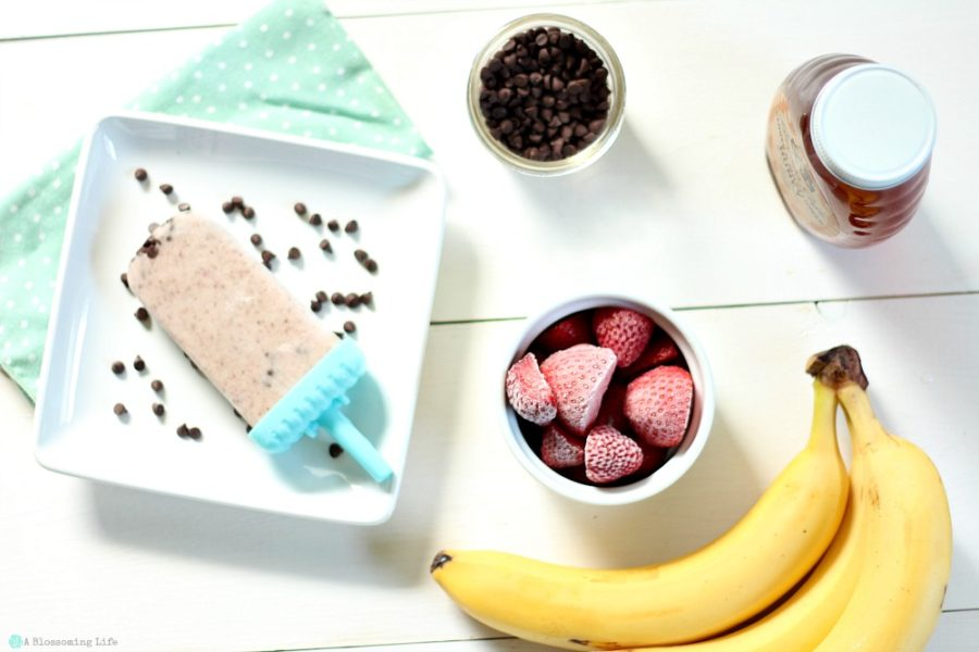 Healthy Banana Split Popsicles