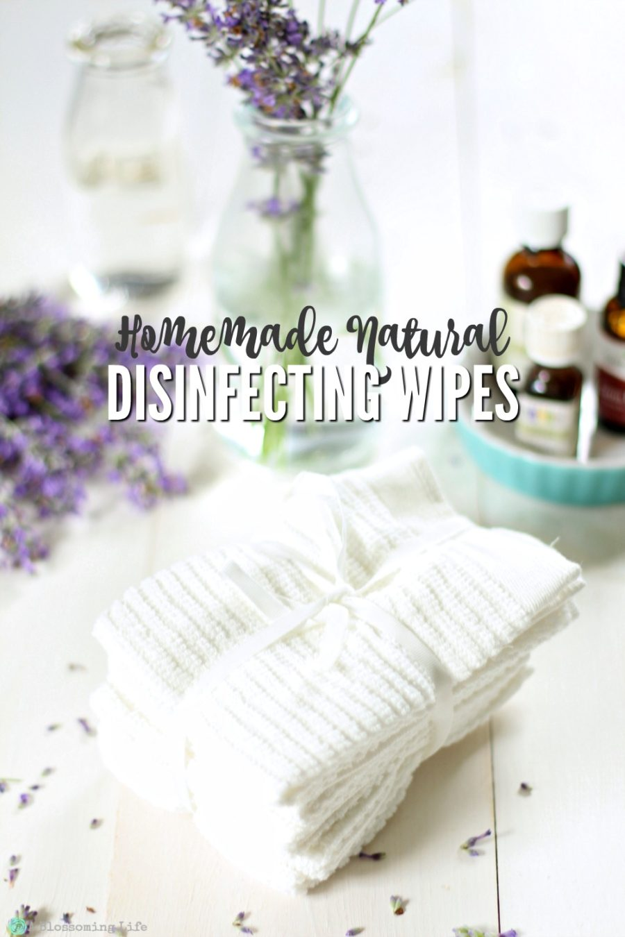 Homemade Natural Disinfecting Wipes