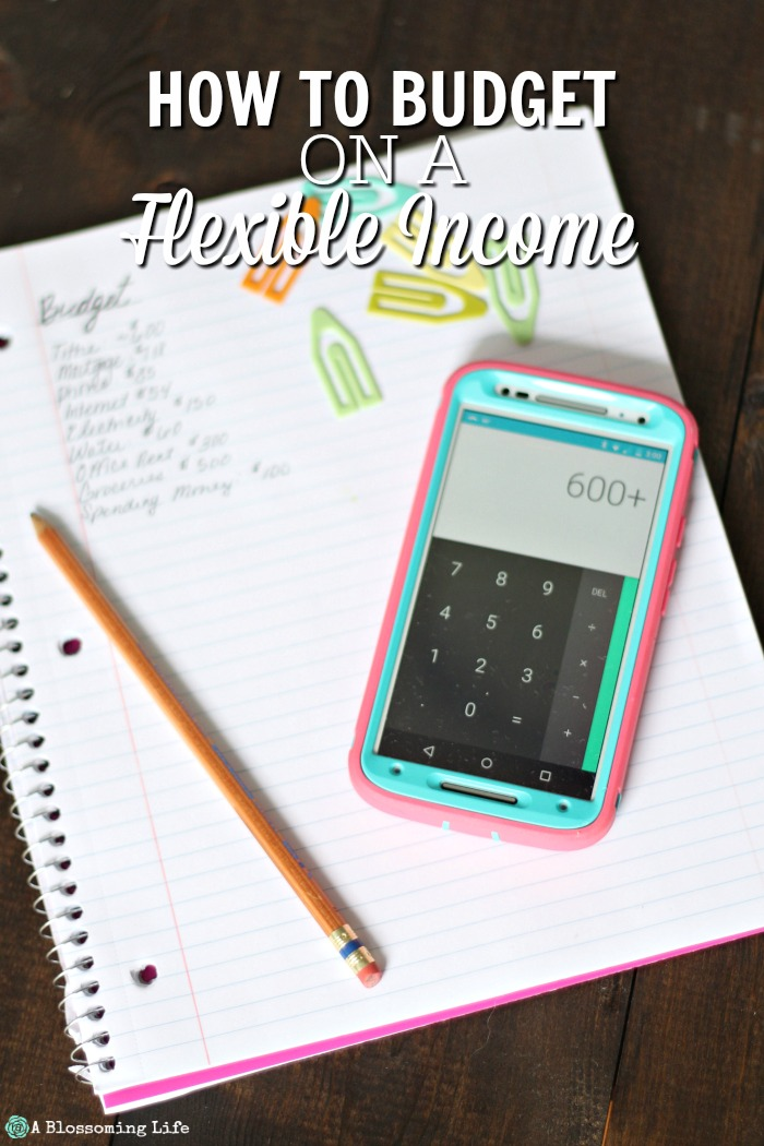How To Budget On A Flexible Income
