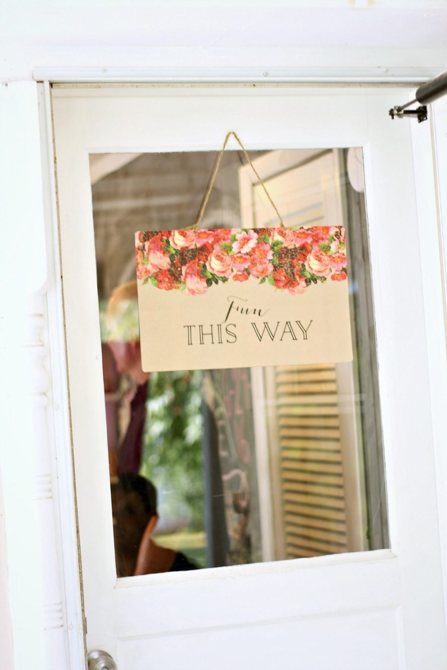 Fun This Way Sign from Minted
