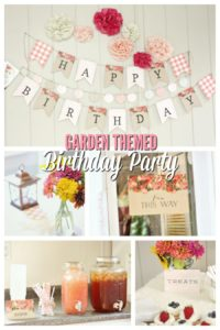 Garden Themed 1st Birthday- Plus a Giveaway!