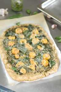 Spinach and Goat Cheese Pesto Pizza