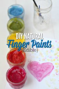 Homemade Natural Finger Paints {Edible}