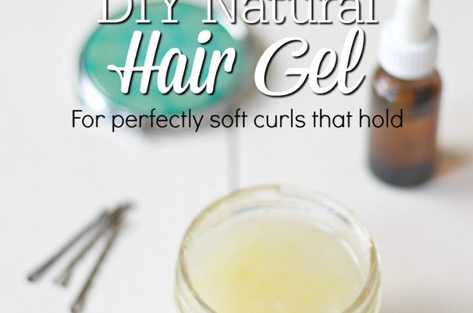 DIY Natural Hair Gel- for perfectly soft curls that hold