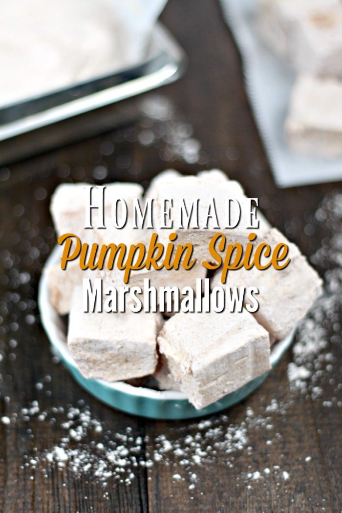 Homemade Pumpkin Spice Marshmallows