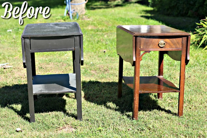 before-sad-looking-side-tables-with-leaves