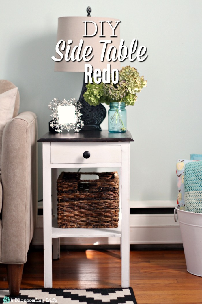 diy side table redo a blossoming life