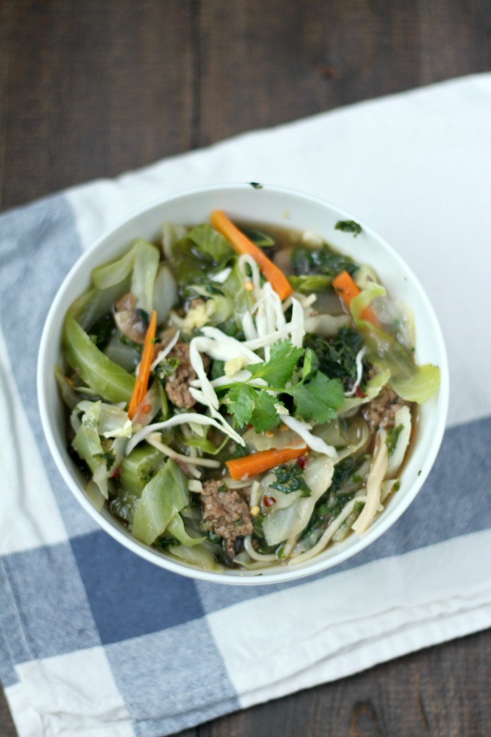 Asian Beef Noodle Soup Recipe is a simple and flavorful beef broth infused with mushrooms, ginger, and garlic.