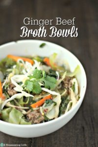 Ginger Beef Broth Bowls