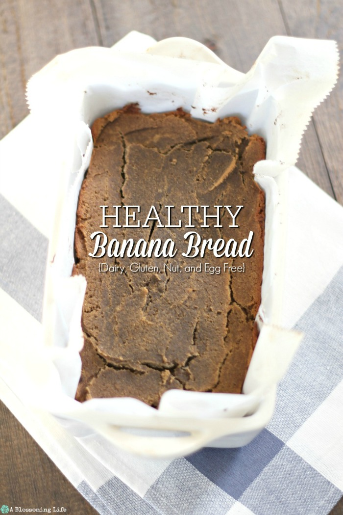 Healthy Banana Bread {Dairy, Gluten, Nut, Egg & Grain Free}