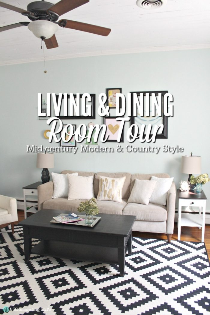 Living and Dining Room Tour: Mid-Century Country Style