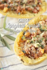 Cheesy Spaghetti Squash Bowl with Beef {GF}
