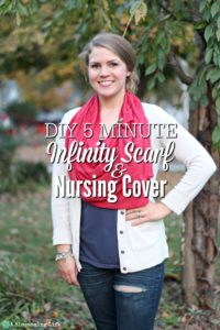 DIY 5 Minute Infinity Scarf & Nursing Cover