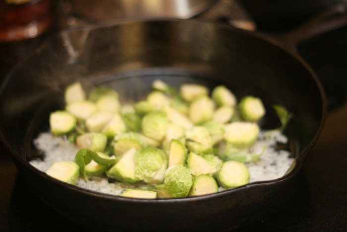 sauteeing-brussels-sprouts