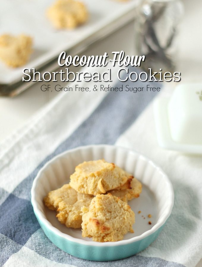 Coconut Flour Shortbread Cookies {Grain, Gluten, and Refined Sugar Free}