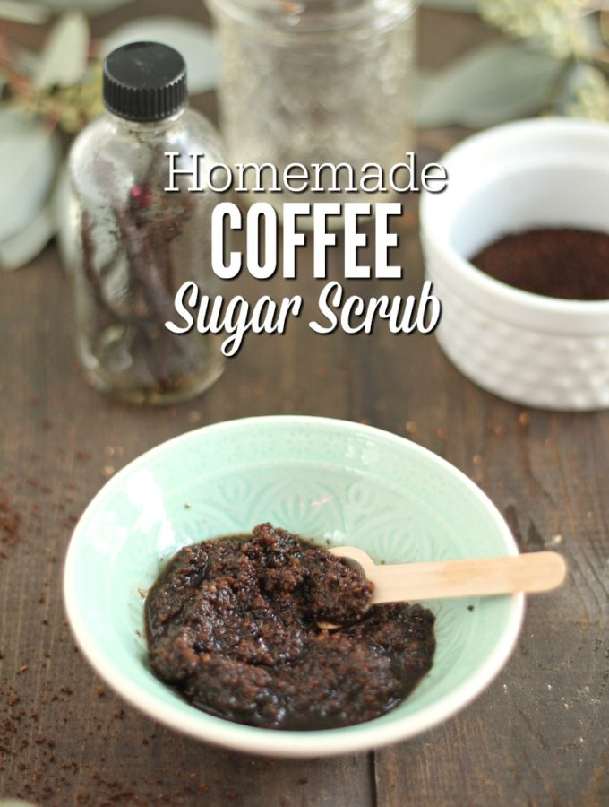 Homemade Natural Coffee Sugar Scrub