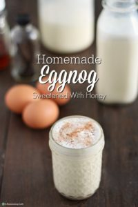 Homemade Eggnog Sweetened With Honey