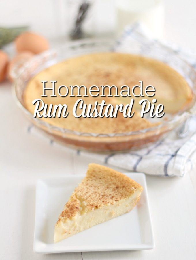 Homemade Rum Custard Pie