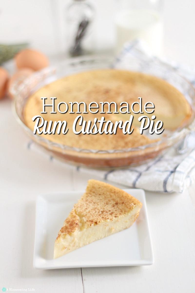 how to make homemade custard pie