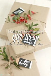 Natural Greenery Gift Wrap – Plus, Eco-Friendly Gift Wrap Ideas