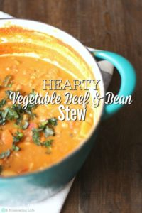 Hearty Vegetable Beef and Bean Stew