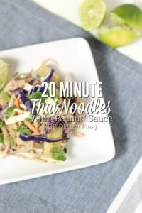 "Easy 20 Minute Thai Noodles With ""Peanut"" Sauce"