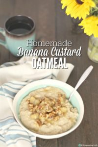 Banana Custard Oatmeal