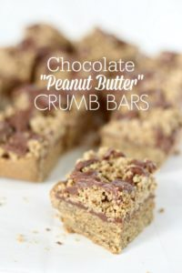 "Chocolate ""Peanut Butter"" Crumb Bars"