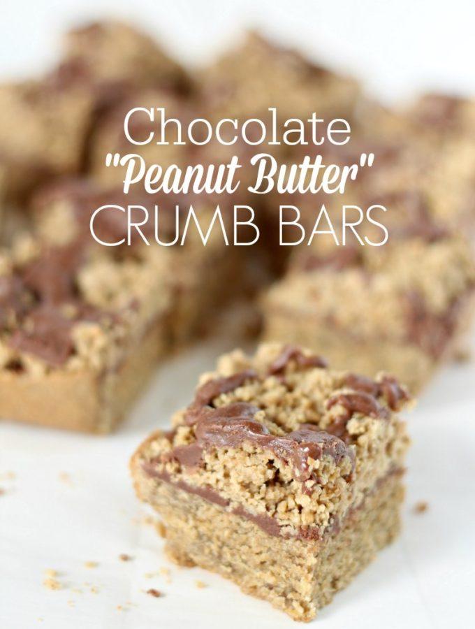 "Chocolate ""Peanut Butter"" Crumb Bars"