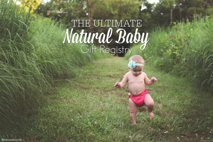 baby walking in a field with a cloth diaper for minimalist baby registry
