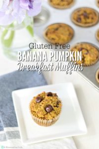 Banana Pumpkin Breakfast Muffins