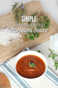 Simple Cheesy Butter Marinara Sauce