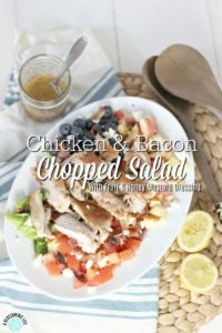 Chicken And Bacon Chopped Salad With Honey Mustard Dressing