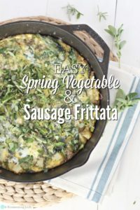 Easy Spring Vegetable & Sausage Frittata
