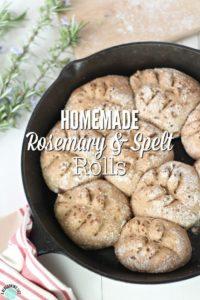 Homemade Rosemary & Spelt Rolls