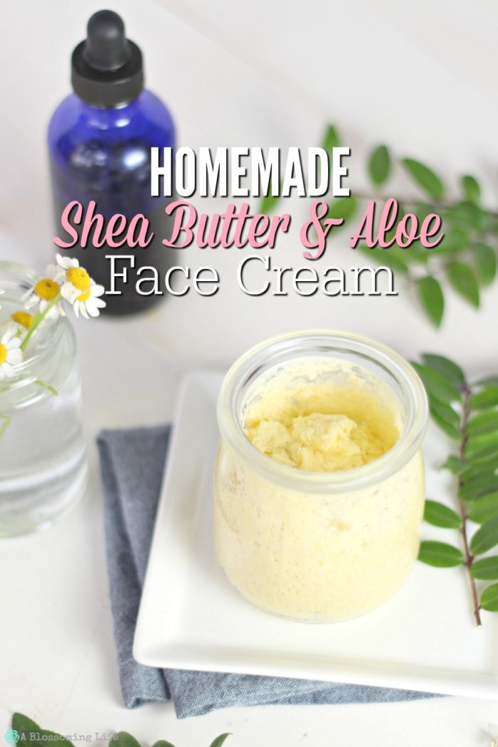 Homemade Shea Butter and Aloe Face Cream