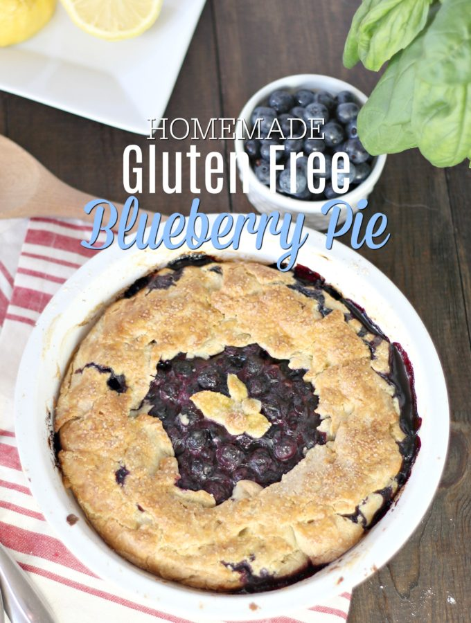 Homemade Gluten Free Blueberry Pie