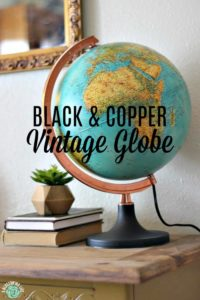 Black & Copper Vintage Globe