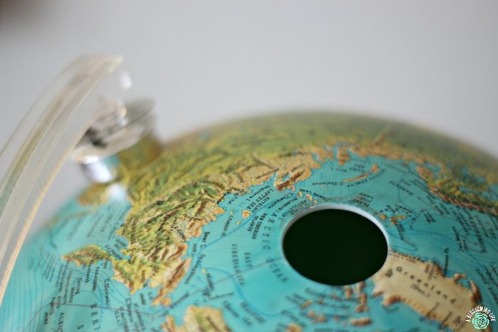 DIY globe makeover- pop off base