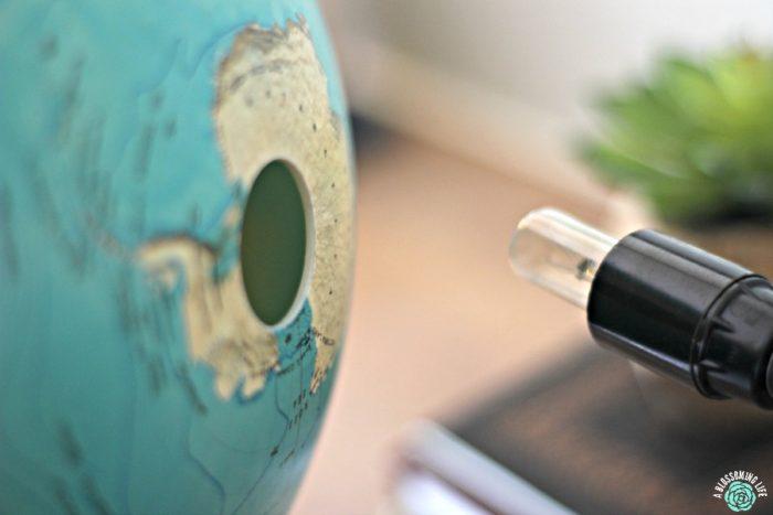 DIY globe redo- pop off base