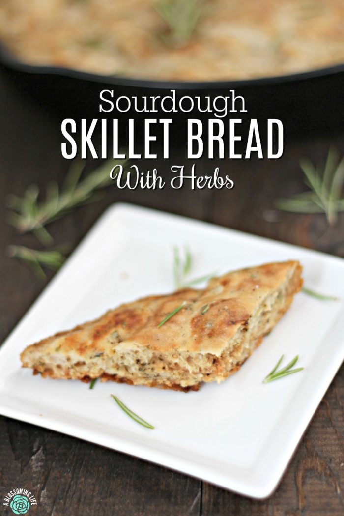 Sourdough Skillet Bread With Herbs