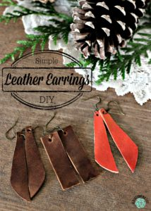 Simple Leather Earrings DIY