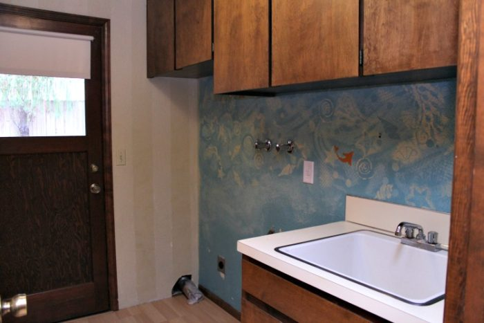 1970s laundry Room Before