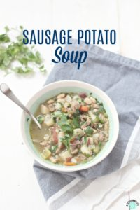 Sausage Potato Soup {Instant Pot}
