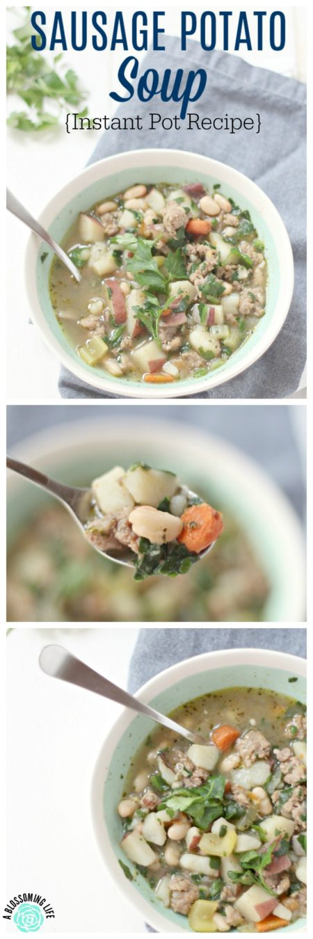 This hearty sausage potato soup is a delicious, healthy, high protein meal that will satisfy on a cold, chilly night... or anytime