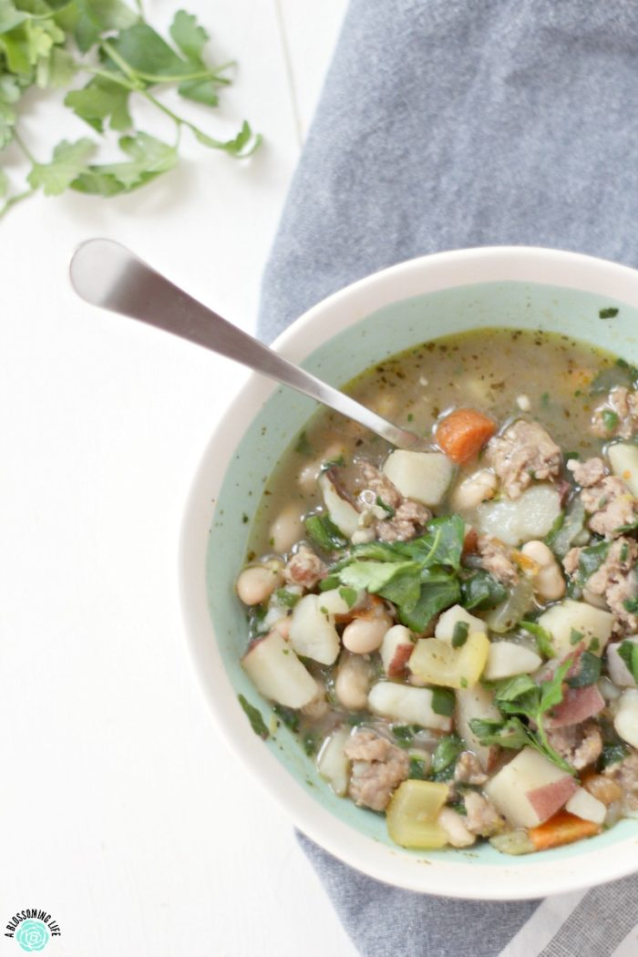 This hearty sausage potato soup is a delicious, healthy, and high protein meal that will satisfy on a cold chilly night... or anytime if you're a soup lover during any season.