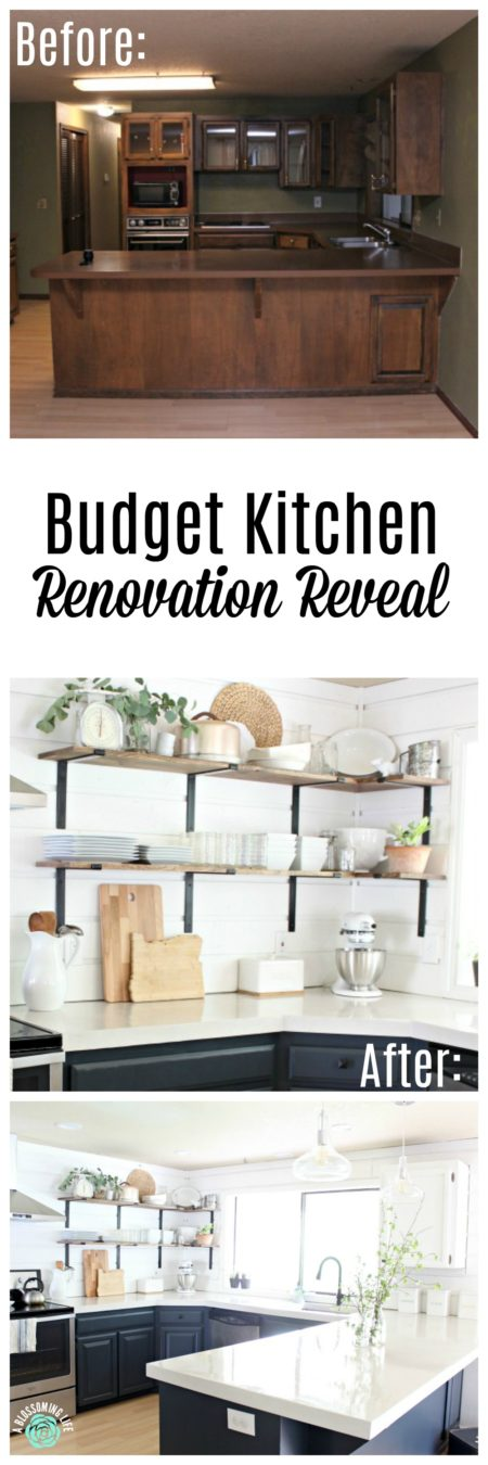 Budget Kitchen Renovation Reveal: Modern Farmhouse Kitchen - A ...