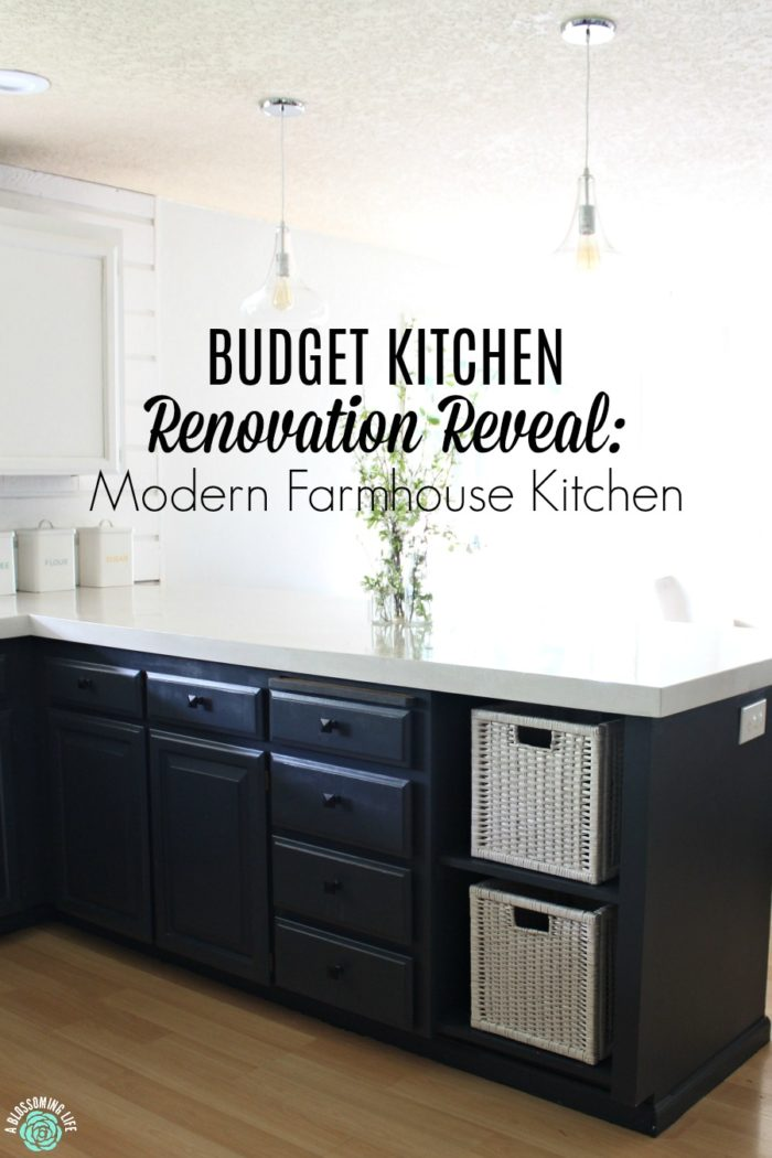 Budget Kitchen Renovation Reveal: Modern Farmhouse Kitchen